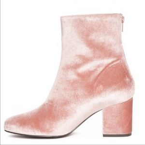 NEW Free People Velvet Cecile Light Pink Bootie
